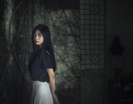 """Miss Teen Nam Phương tạo hình rùng rợn """"hồn ma nữ"""" đón Halloween"""