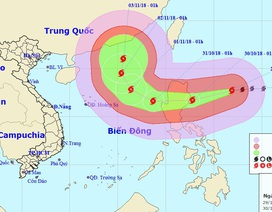 Bão Yutu di chuyển nhanh, hướng vào Biển Đông