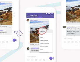Viber bất ngờ tung tính năng tự động chuyển ngữ trên tin nhắn