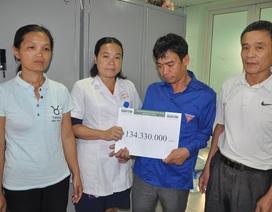 Hơn 134 triệu đồng đến với người chồng tàn tật chăm vợ bị bệnh tim