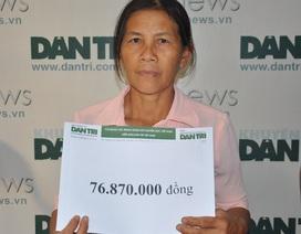 Gần 77 triệu đồng đến với người mẹ tâm thần nuôi 2 con thần kinh