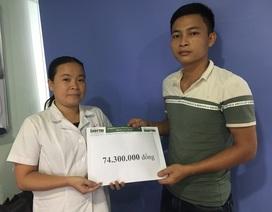 Bạn đọc giúp gia đình bệnh nhân Phạm Văn Mô hơn 74 triệu đồng