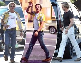 """Brad Pitt đẹp kiểu """"lãng tử, cổ điển"""" trên phim trường"""