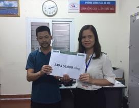 Gần 250 triệu đồng đến với em Mè Thị Oanh bị bệnh tim
