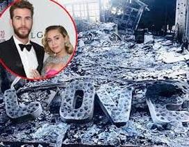 Nhà của Miley Cyrus bị thiêu rụi