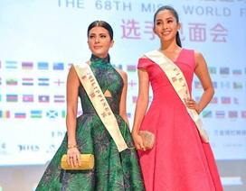 Hoa hậu Tiểu Vy cùng mỹ nhân Hoa hậu Thế giới 2018 ra mắt giới truyền thông
