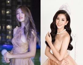 """Người mẫu Quỳnh Châu gợi cảm hơn khi """"đụng hàng"""" hoa hậu Tiểu Vy"""