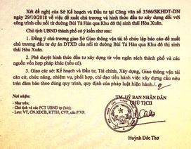 """Chủ tịch Đà Nẵng giao công an xác minh công văn giả """"thổi"""" giá đất"""