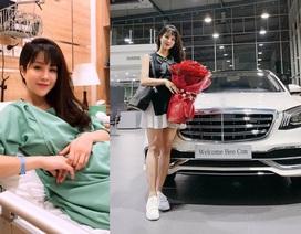 Diệp Lâm Anh đã sinh con đầu lòng, được chồng thiếu gia tặng xe tiền tỷ