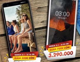 Sở hữu smartphone Nokia 3.1 với mức giá chấn động