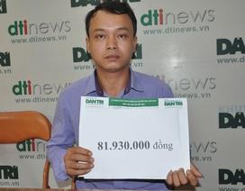 Gần 82 triệu đồng tiếp tục đến với cậu bé Dương bị ung thư máu
