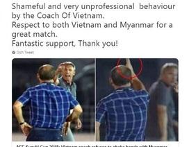HLV Myanmar chỉ trích hành động không bắt tay của thầy Park