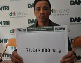 Hơn 71 triệu đồng đến với gia đình anh Công có 2 con bại não