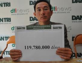 Gần 120 triệu đồng đến với cô giáo Phương