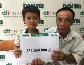 Hơn 132 triệu đồng đến với cậu bé Việt Anh bị ung thư hạch