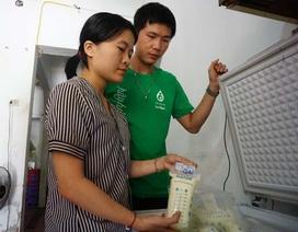 Tủ sữa mẹ miễn phí của cặp vợ chồng trẻ người Nghệ