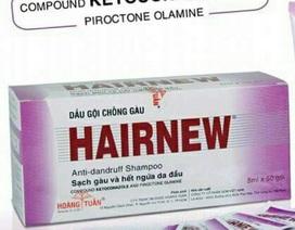 Thu hồi dầu gội chống gàu chứa chất cấm trị nấm