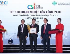 Novaland nằm trong top 100 doanh nghiệp bền vững 2018