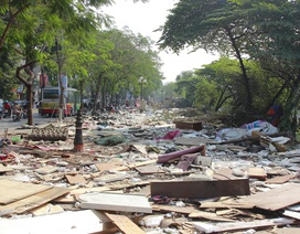 Hà Nội: Tháo dỡ khu chợ tạm Ngã Tư Sở sau gần 10 năm tồn tại