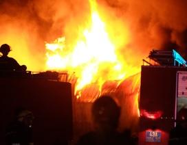 Đà Nẵng: Cháy lớn ở kho sơn trong khu công nghiệp Hoà Cầm