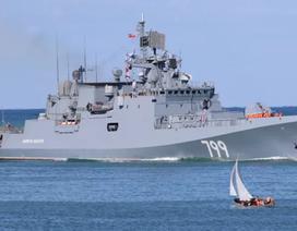Nga đưa tàu chiến mang tên lửa hành trình tới gần Syria