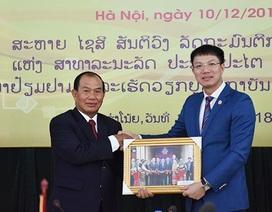 Bộ trưởng Tư pháp Lào tới thăm và làm việc tại Học viện Tư pháp Việt Nam