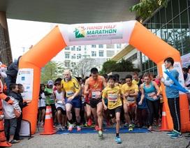 Đường đua  xanh Hanoi Half Marathon 2018