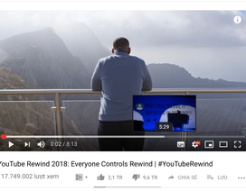 """Video tổng kết cả năm của Youtube có tốc độ """"dislike"""" kinh hoàng"""