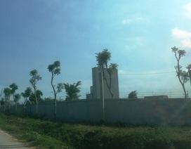 """Trạm trộn bê tông không phép """"mọc"""" gần Ban quản lý Khu kinh tế Nghi Sơn"""