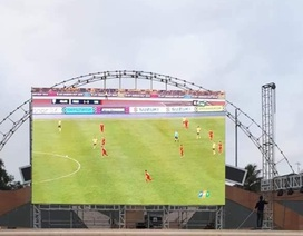 Lắp màn hình cỡ lớn để cổ vũ đội tuyển Việt Nam tại trận chung kết lượt về