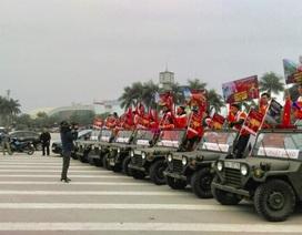 Dàn xe Jeep chất lừ tiếp lửa cho đội tuyển Việt Nam