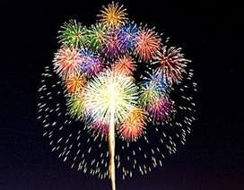Bắn pháo hoa chào năm mới tại huyện đạt chuẩn Nông thôn mới đầu tiên của Hà Tĩnh