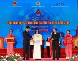 """BIDV xuất sắc nhận giải thưởng """"Doanh nghiệp tiêu biểu vì Người lao động""""  năm 2018"""