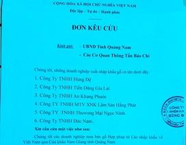 """Doanh nghiệp """"kêu cứu"""" vì thông báo của Ủy ban tỉnh Quảng Nam!"""