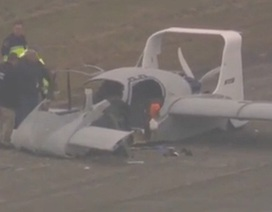 Ô tô bay gặp tai nạn trên đường thử