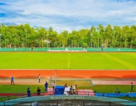 Toàn cảnh sân vận động Panaad nơi diễn ra trận đấu giữa Philippines và Việt Nam