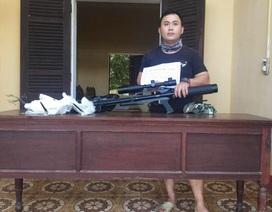 Xử phạt một thanh niên dùng súng hơi bắn chim trái phép
