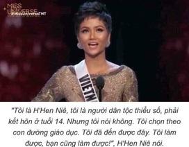Phát ngôn của Hoa hậu H'Hen Niê mở ra trào lưu mới trên mạng