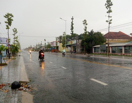 Mưa lớn bất ngờ ở Sóc Trăng, Bạc Liêu
