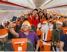 Rộn ràng không khí Noel trên máy bay của Jetstar Pacific