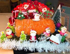 """Độc quyền bánh sushi hình khúc gỗ, cây thông Noel, cô chủ """"hốt bạc"""" không kịp"""