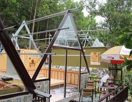 """Đã tháo dỡ phần lớn các công trình tại khu du lịch """"chui"""" trên đất rừng"""