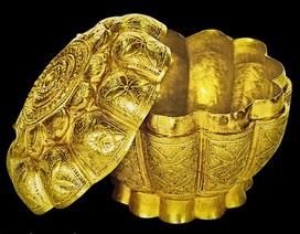 Hộp vàng tìm thấy ở Ngọa Vân - Yên Tử được công nhận là Bảo vật Quốc gia