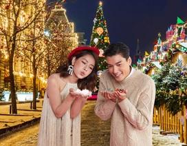 """Chi Pu và Quang Đại bắt kịp trào lưu mới """"Tin phép màu tạo tuyết rơi"""""""