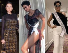 """H'Hen Niê nổi bật tại Hoa hậu Hoàn vũ; U40 Thu Minh """"chặt đẹp"""" đàn em trên thảm đỏ"""