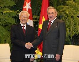 Lãnh đạo Việt Nam gửi điện chúc mừng Quốc khánh Cuba