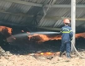 Nhà xưởng 3.000m2 bốc cháy, 100 tấn viên nén sinh học… thành than