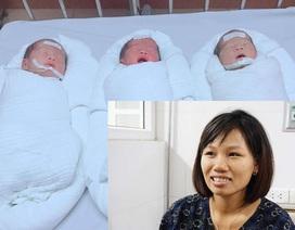 Ca sinh 3 tại Nghệ An: Cả gia đình bất ngờ vì lúc siêu âm chỉ là song thai!