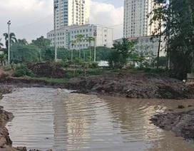 Vỡ đường ống cung cấp nước sạch cho sân vận động Mỹ Đình