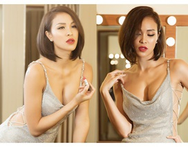 """Phương Mai hở trọn bầu ngực, soán ngôi """"MC sexy nhất showbiz"""""""